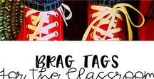Brag Tags for the Classroom / Brag Tags and positive behavior ideas for elementary