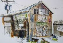 ART | watercolor line & wash