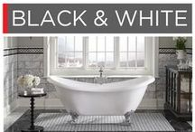 Black & White / Opposites attract. A simple pattern of black & white is quietly bold.