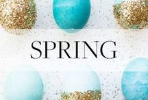 Spring Holiday Inspiration / Seasonal DIYs, recipes and inspiration for St. Patrick's Day, Easter + more.