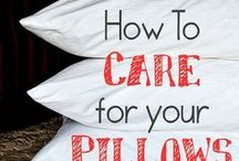 CLEANING-PILLOWS/MATTRESS / by TAMBRA FRANK