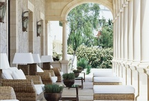 Inspired Outdoor Spaces: Patios+Porches / Front Porch+Side Porch+Back Porch+Screen Porch+Any Porch Patios + Porches + Poticos + Verandas / by Lil Springer