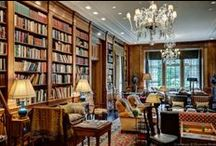 Inspired Spaces: Library+Reading Room+Study / Great rooms for keeping, reading, enjoying books within ones home.