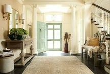 Inspired Spaces: Grand Entryways + Hallways + Staircases / Everything From Grand Foyers to Backdoor Mud & Boot Rooms