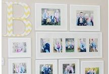 Lovely Wall Displays and Gallery Walls / Beautiful Photo Wall Displays / by Melissa Plowman