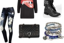 My Style, lots of skulls and animal prints.