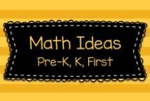 Math Ideas for Pre-K, Kindergarten & First Grade! / Lots of great ideas for teaching math, mostly to Pre-K, Kindergarten, and first grade, but also some ideas for bigger kids, too!  Visit me at www.heidisongs.com, or at my blog at http://heidisongs.blogspot.com.