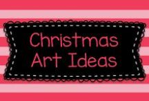 Christmas Art Ideas / Lots of great ideas for art to mostly to Pre-K, Kindergarten, and first graders, but also some ideas for older kids, too!    Visit me at www.heidisongs.com, or at my blog at http://heidisongs.blogspot.com.
