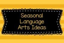 Seasonal Language Arts Ideas / Lots of great seasonal ideas for art to mostly to Pre-K, Kindergarten, and first graders, but also some ideas for older kids, too!    Visit me at www.heidisongs.com, or at my blog at http://heidisongs.blogspot.com.