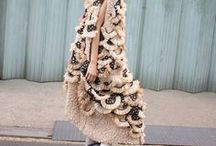 Fashion: Unconventional / It's wonderful to look at and sometimes to have one of these unconventional fashion styles with feathers, leather, tulle and especially with pattern and material mixes in your own coset...