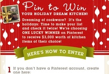 My Holiday Dream Kitchen / My board is for a fun Friday Night Pizza Party in my kitchen! The Contest is sponsored by Cooking.com Bright Red plates and Napkins and all the tools needed to make great pizzas and even better Memories! #HolidayCooking