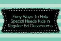 Easy Ways to Help Special Needs Kids in Regular Ed Classrooms / This board is dedicated to finding ideas to help special needs kids (or just struggling learners, with or without a label!) in regular education classrooms.  Please visit me at www.heidisongs.com, or my blog at http://heidisongs.blogspot.com!