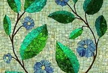 Mosiac Inspiration / A new craft I'd like to try. . . and a way to use up all the stained glass scraps we've kept over the years! / by Jennifer Heinl