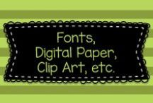 Fonts, Digital Paper, Clip Art, etc.