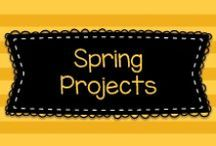 Spring Projects for Pre-K, K, and First / Ideas for spring for pre-K, Kindergarten, and first grade children!