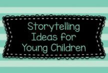 Storytelling Ideas for Young Children / Ideas for felt board stories, draw & tell, cut & tell, fold and tell, and other storytelling ideas for children!