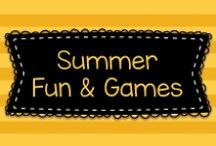 Summer Fun & Games / This board has lots of fun things for families and kids to do over the summer!