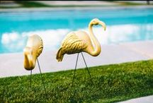 Theme: Fabulous Flamingo Palm Springs Kitcsh! / Drawing inspiration from fabulous flamingo kitsch for a retro Palm Springs inspired event.