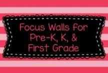 Focus Walls for Pre-K, K, & First Grade / This board has great examples of Focus Walls for all subjects for Pre-K, Kindergarten, and First Grade!