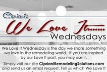 We Love It Wednesday / We Love It Wednesday is the day we share something we love in the remodeling world!