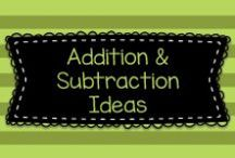 *Addition & Subtraction Ideas* for Pre-K, Kindergarten, and First Grade / This board has lots of fun ideas for helping young children learn and practice addition and subtraction in pre-k, kindergarten, and first grade!