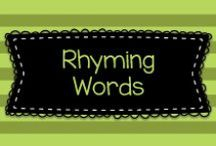 Rhyming Words / Fun, active, and effective educational ideas to help teach rhyme and rhyming words in pre-K, Kindergarten, and first grade!