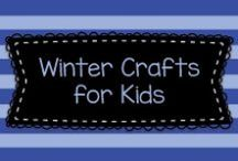 Winter Crafts for Kids / Winter arts and craft projects for Kindergarten, pre-K, and first graders!  Great for December, January, and February school and daycare projects.