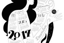 Design: Wallpapers & Calendars / Find my favorite desktop wallpapers and calendars. There are so many inspiring ones that immediately put you in a good mood: