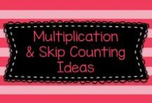 Multiplication and Skip Counting Ideas / This board has lots of great ideas for for teaching the multiplication tables, skip counting, and other related math skills!
