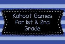 Kahoot Games for First and Second Grade / This board has lots of links to free Kahoot games created by teachers for first and second grade kids and their teachers.