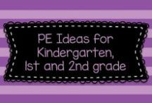 PE Ideas for Kindergarten, first grade, and second grade! / Here are some fun and easy ideas for teaching PE to Kindergarten, first, and second graders!