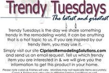 Trendy Tuesday / Trendy Tuesday is the day we share something trendy in the remodeling world. It can be anything that is a hot topic to us.