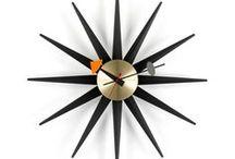 Clocks / Classic mid-century modern clock designs.