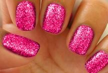 Manicura / Finger & toe bling.   #manicure #pedicure #polish #finger #toe