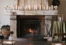 Homes - Fireplaces / by Drew It Yourself - D.I.Y.