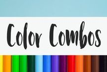 Color Combos / We live in a world of color. Even as someone who is into art, I still need help figuring out color combinations. I can't always figure out which color palettes go together. This board is full of color designs waiting to grace your walls, website, and more!