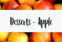 Desserts - Apple / I LOVE apple desserts. This board is all about apples and sugar. You can't go wrong with these yummy desserts. There is a little bit of every dessert type, from apple brownies, apple slabs, apple cookies and apple pie.