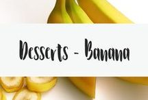 Desserts - Banana / Bananas are yummy. It is just a fact. Bananas combined with sugar or chocolate? Even more delicious. This board is for all types of banana desserts. Check here for yummy recipes, quick recipes and more. *banana bread*banana slab*banana cupcakes*banana pudding*banana muffins*