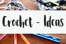 Crochet ideas / While these crochet patterns are not free, they are great for figuring out what you want to crochet. Take these crochet ideas and make your own crochet pattern! Or use the ideas to add to a different pattern.