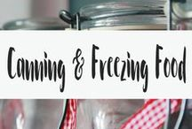 Canning and Freezing Food / This board is all about preserving food. Being able to can is a great skill, especially if the zombie apocalypse ever does happen! Check out this board if you are looking for canning recipes, canning supplies, or just canning ideas. Also in this board is recipes for freezing food or just ideas for what foods you can freeze.