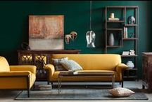 Style: Boho Luxe / Luxurious and moody bohemian interiors