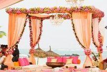 Hot Pink & Tangerine Indian Wedding Inspiration