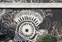 Seen on the street / Mural for minted by artist Katja Ollendorff