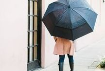 Inclement Weather / Rainy day style and inspiration.
