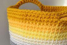 Crochet: Baskets / Crochet basket patterns and inspiration.