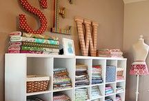 Sewing: Studio / Images and ideas for sewing studios and spaces.