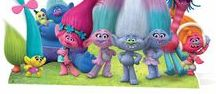 Dreamworks Trolls Official Cardboard Cutouts / Check out our new range of official Trolls cardboard cutouts from the new Dreamworks movie!  This extensive range of cutouts features character cutouts from the movie including Princess Poppy, Branch, Smidge, Guy Diamond, Cooper and Biggie as well as a huge group panoramic cutout of the cast and finally two child size stand-in cutouts which, when placed next to one another, form a bigger scene from the Can't Stop The Feeling! music video by Justin Timberlake.