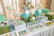 Dessert tables on Catch My Party / Dessert tables are a wonderful addition to any party.  Here you'll find ideas for dessert table backdrops, dessert table treats, dessert table decorations and more!  See more party ideas at CatchMyParty.com.