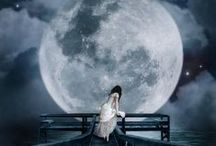 Stars, The Moon & Other Dreamy Stuff / By night the stars & the moon light up the darkness paving a way to our dreams....