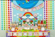 Rainbow Party Ideas / Rainbow party ideas for birthdays  --  Rainbow cakes, decorations, party foods and favors. See more party ideas at CatchMyParty.com.
